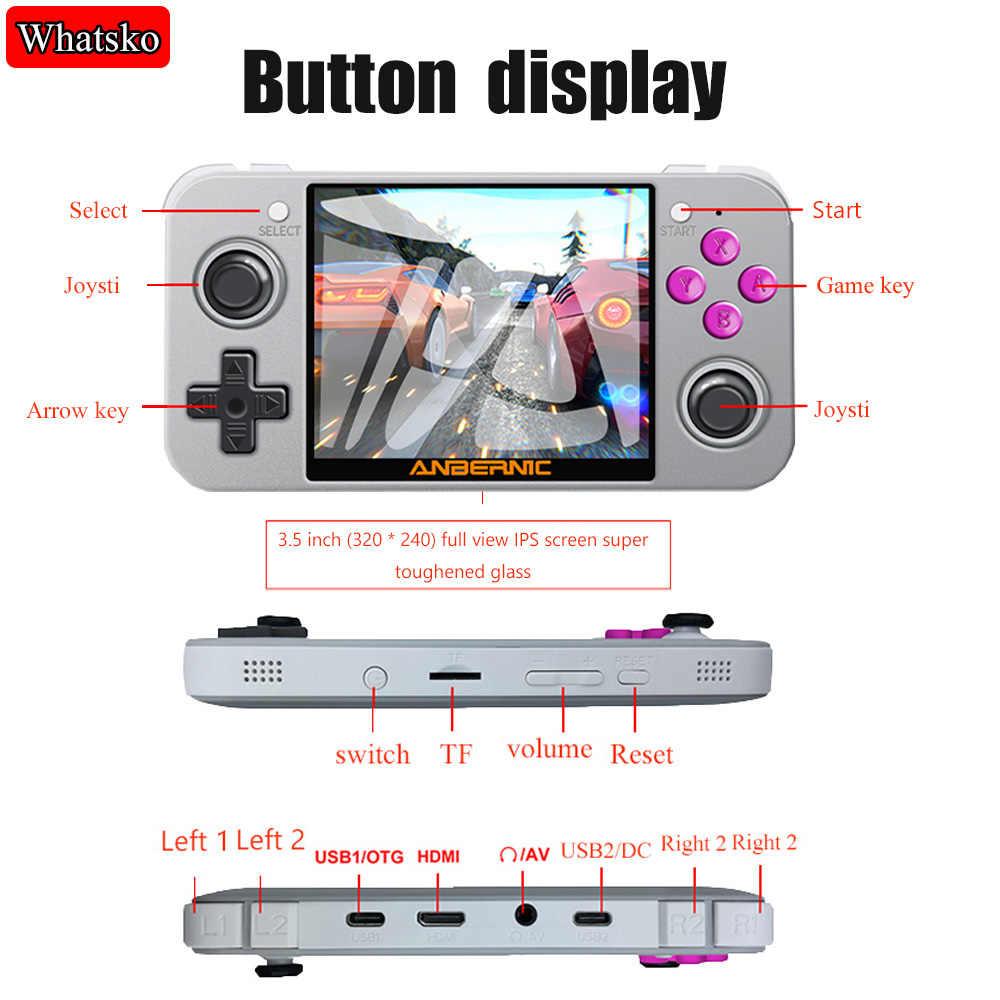Nuovo ANBERNIC RG350 RG350M Palmare Retro Video Console di Gioco Da 3.5 Pollici IPS Dello Schermo di PS1 Gioco 64 Bit Qpendingux Aggiornare Gaming lettore