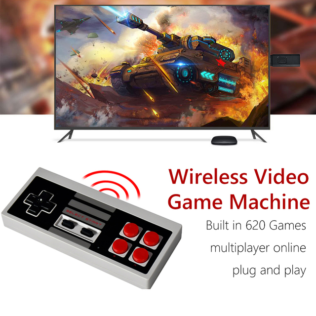 Mini USB TV Retro Console Video Game Built-In 620 Classic Games  9