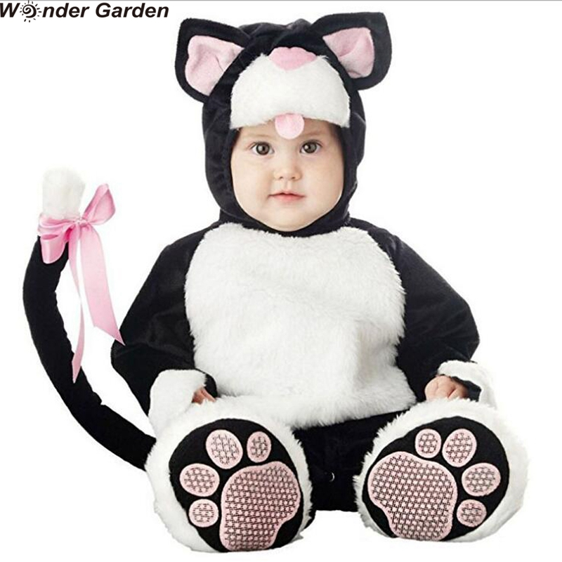 Infant Cat Costume | Wonder Garden Infant Toddlers Kitty Cat Costume Halloween Party Cosplay Costumes Christmas Purim Holiday Jumpsuit