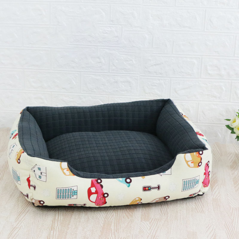 Pet Cat Dog Bed Warm Cozy Dog House Soft Nest Dog Baskets House Mat Autumn Winter Waterproof Kennel Removable Dog Bed 10