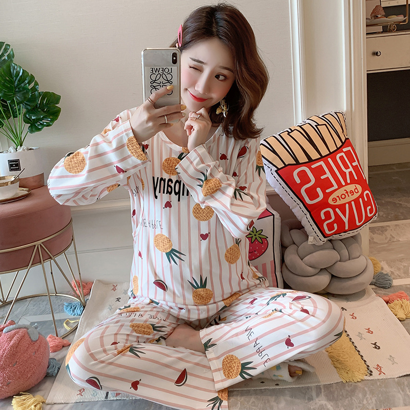 Pregnant Women Confinement Clothing Double Long Qmilch Japanese Korean Hoodie WOMEN'S Dress Maternal Pajamas Maternal Lactation
