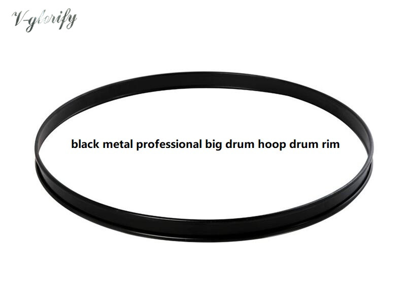 12 14 16 18 20 22inch Black Metal Hoop Bass Drum Hoop Drum Rim Professional Big Hoop