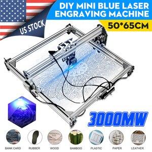 Image 2 - 50*65センチメートルミニ3000mw青色レーザー彫刻彫刻機dc 12v diyのデスクトップ木製カッター/プリンタ/パワー調節可能な + レーザー
