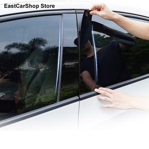 Image 2 - Porta do carro janela coluna meio guarnição decoração tira de proteção adesivos para toyota innova crysta 2020 2021