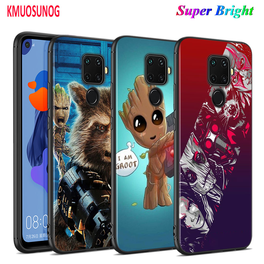 Black Cover Guardians of the for Galaxy <font><b>Marvel</b></font> for <font><b>Huawei</b></font> Mate 30 20 20X 10 Lite Y9 <font><b>Y7</b></font> Y6 Y5 Pro Prime Lite <font><b>2019</b></font> 2018 Phone <font><b>Case</b></font> image