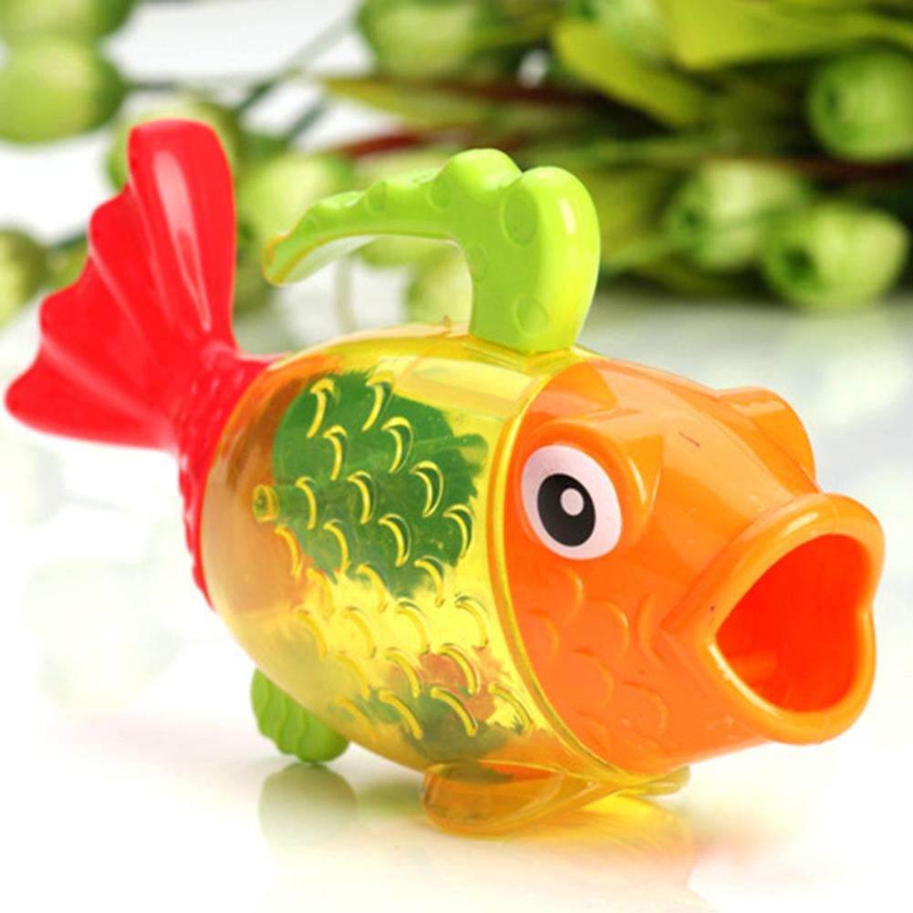 Temperature Changing Color Cute Fish Kids Baby Bath Swimming Water Sprinkler Toy Train Baby's Comprehensive Ability Love Bathing