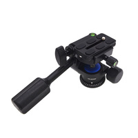Tripod Fluid Drag Pan Head with Handle 1/4 Quick Release Ball Head for DSLR Cameras PUO88