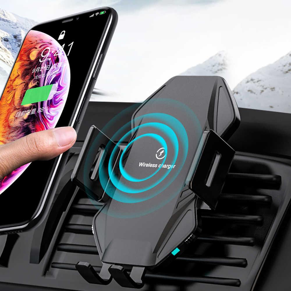 Bezprzewodowa ładowarka samochodowa NTONPOWER Qi 10W szybkie ładowanie dla iPhone 11 XS X 8 inteligentna ładowarka samochodowa na podczerwień bezprzewodowa ładowarka
