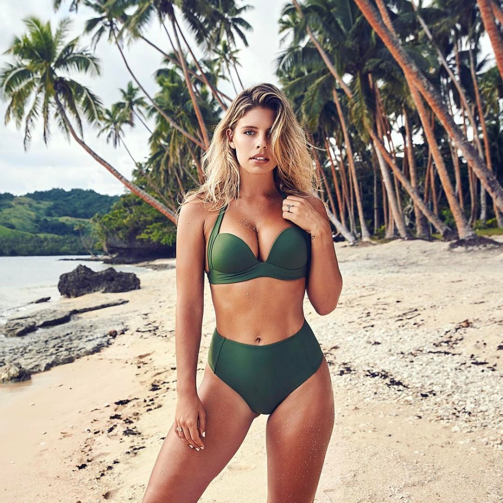 MUOLUX Sexy High Waist <font><b>Bikini</b></font> Set Swimsuit For Women Push Up Swimsuit <font><b>2019</b></font> Women Spaghetti Strap <font><b>Bikini</b></font> Top Bathing Suit Beachwe image
