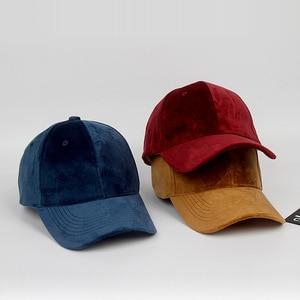 Image 2 - Luxury ยี่ห้อผ้าฝ้ายกำมะหยี่เบสบอล Caps สำหรับผู้ชายผู้หญิงกีฬาหมวกหมวก Trucker หมวกหมวกหมวกฤดูหนาวกลางแจ้ง sa 8