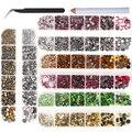 Top Qualität 2000 Teile/schachtel DMC Kristall AB/Kristall Klar Super Helle Glas Strass Eisen auf Hotfix Strass für Stoff garment Diy