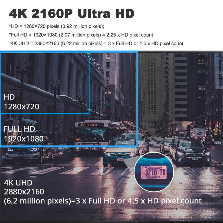 4K 2160P Mini Thông Minh IPS Táp Lô Xe Ô Tô Đầu Ghi Hình Camera Wifi GPS Theo Dõi Cử Chỉ Chụp Ảnh 24H Bãi Đỗ Xe Ô Tô video Cam Đầu Ghi Hai Ống Kính Cảm Biến