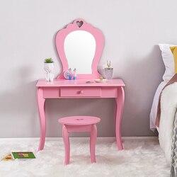 Комод для маленьких девочек, детская мебель для спальни, розовый стиль принцессы, маленький туалетный столик, костюм, От 3 до 6 лет, Детская до...