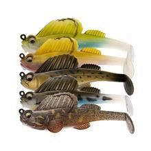 Jumping рыбы Рыбалка приманка в виде буквы Т хвост мягкой бионические