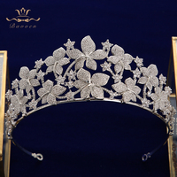 Bavoen Wedding Flower Zirconium stone crowned queen Princess Prom ball Head Wear headgear accessories for wedding hair