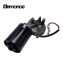 BEMONOC High Torque 12V 24V DC Electric Reversible Gear Motor 45/50 RPM Right Angle Thread Shaft for Volume Gate Garage Door zga37rg 12v dc 100 rpm gear box motor 1 34 5 high torque 3500r min reversible motor