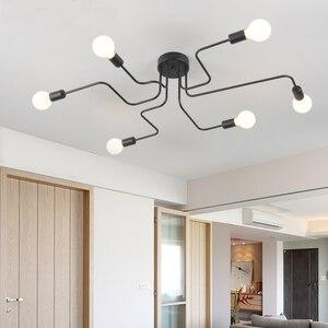 Image 4 - أضواء الثريا LED تركيبات بريق خمر Led مصباح المطبخ الصناعي غرفة المعيشة الأسود Avize الحديثة Plafonnier ليلة مصباح