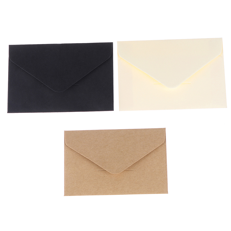20PCS Classical White Black Kraft Blank Mini Paper Window Envelopes Wedding Invitation Envelope Gift Envelope