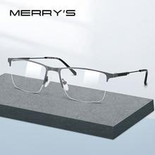 MERRYS DESIGN Men Titanium Alloy Glasses Frame Half Optical Frame Myopia Prescription Optical Eyewear S2176