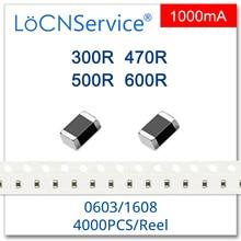 LoCNService 0603/1608 100MHZ 4000 Chiếc 1A Đa Lớp Chip Ferrite Hạt 300R 470R 500R 600R 25% Chất Lượng Cao 1000mA