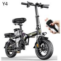 New Electric Bike 14inch Mini Electric Bicycle 48V32A LG  city ebike 350W Powerful Bike 32km/h Full throttle sctooer city e bike