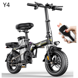 New Electric Bike 14inch Mini Electric Bicycle 48V32A LG city ebike 350W Powerful Bike 32km/h Full throttle sctooer city e bike