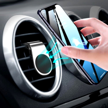 Magnetic Car Phone Holder L Shape Air Vent Mount Stand for iPhone XS MAX XR Samsung Xiaomi Huawei GPS Mobile in