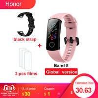 Originale Huawei Honor Fascia 4 Band 5 Smart Wirstband 50m Impermeabile Inseguitore di Fitness Frequenza Cardiaca Monitor di Dormire A Scatto Smart braccialetto