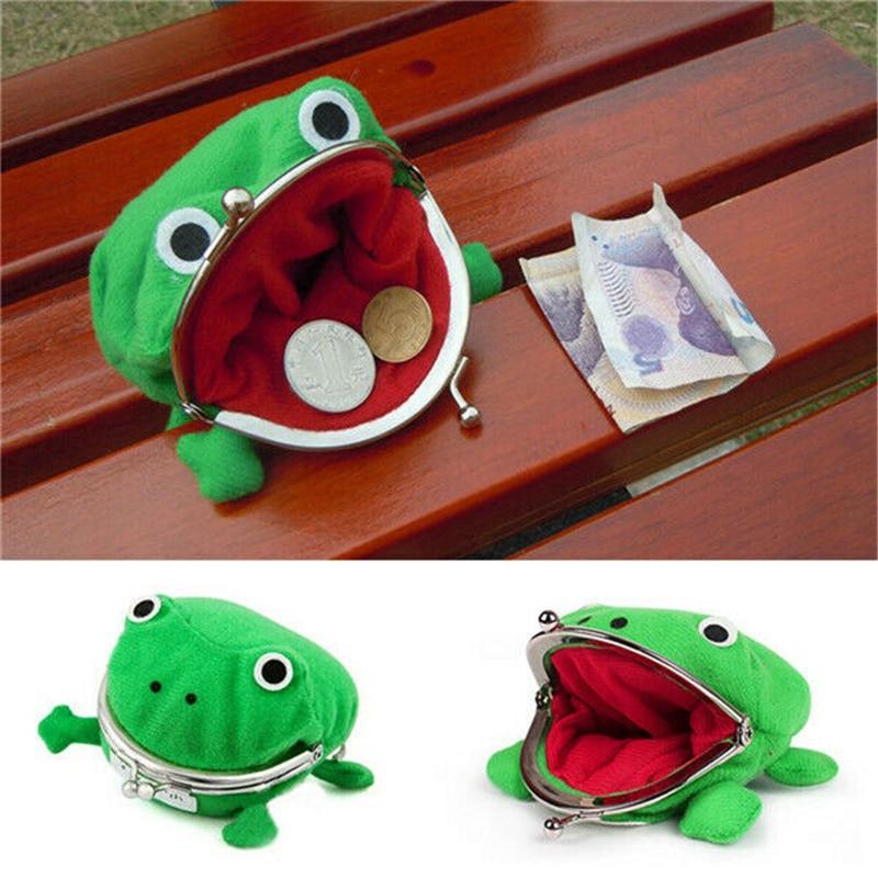 1 PC Frog Coin Purses Women's Wallet Pouch Manga Shape Fluff Clutch Cute Wallet Purse Coin Holder Adult Kids Girls Gift
