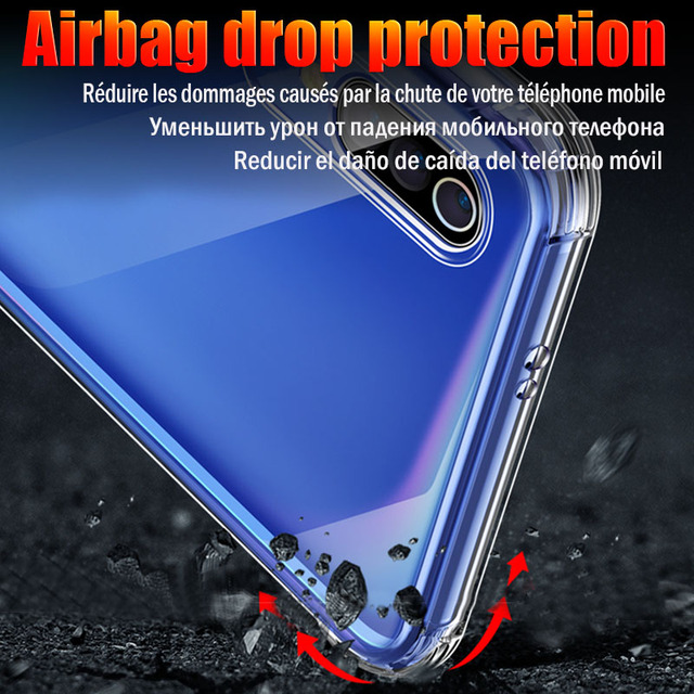 Shockproof Case For Xiaomi Mi Note 10 Pro 9 6 8 SE 9T A2 A3 Lite Mix 2s Redmi Note 9s 8 7 6 9A K30 Pro 8T 6A 7A 8A 5 Plus Cover 5