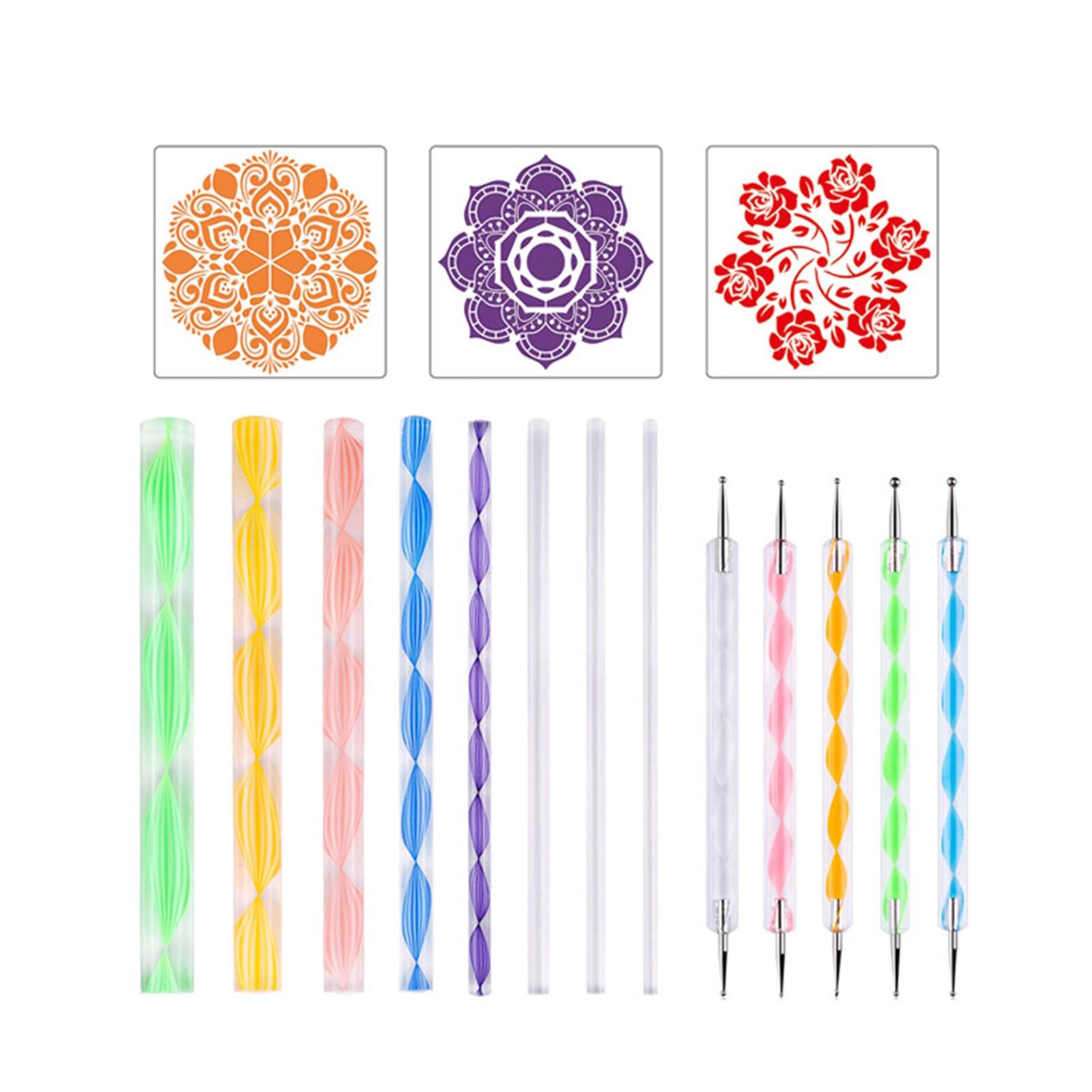 6/18/34/35-piece Mandala Stippling Tool Pen Set Painting Tool Set Reusable Unique DIY Stippling Equipment Kit