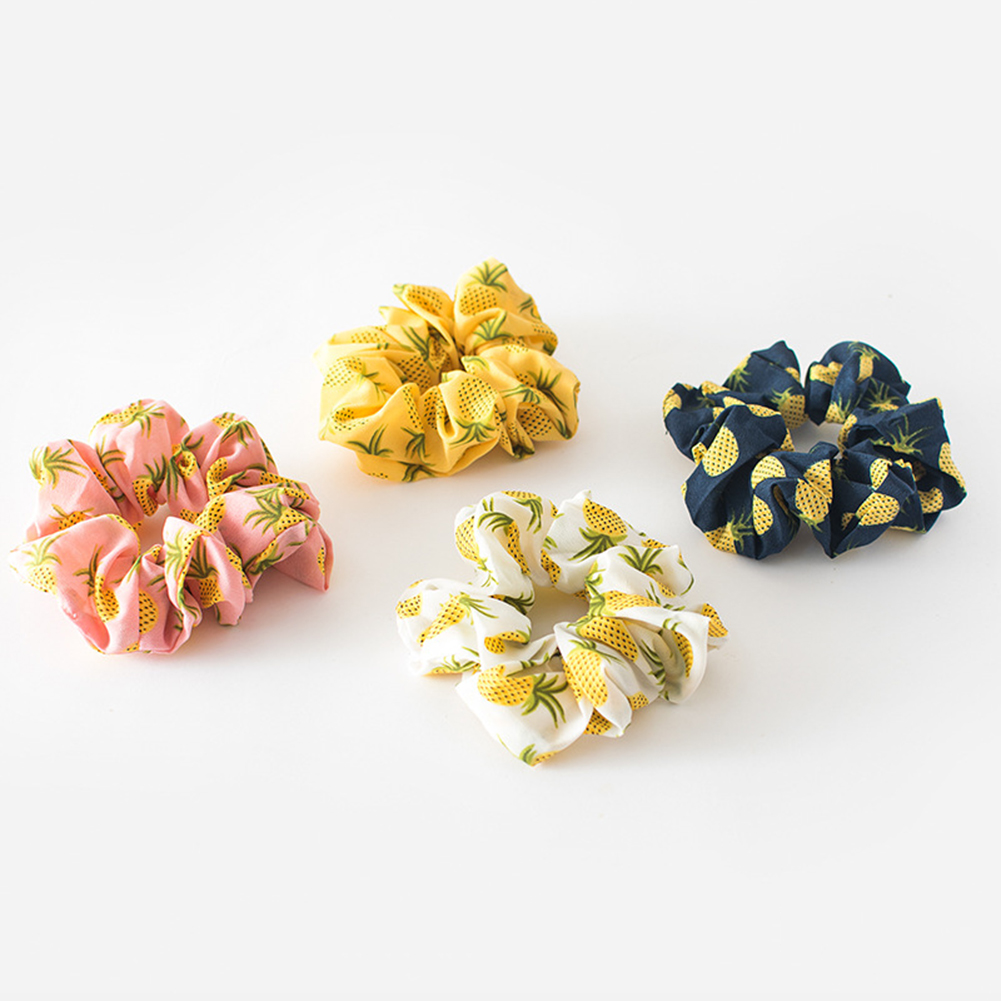 Korean Women Hearwear Girls Hair Tie Striped Lady Scrunchies Ponytail Hair Female Holder Rope Pineapple Print Hair Accessories