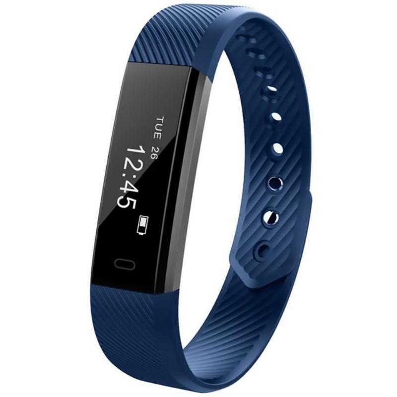 ID 115 U Smart Sports Bracelet Heart Rate Blood Multi-touch Screen Switching Mode Anti Lose Pressure Monitor Fitness Tracker