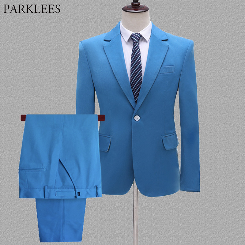 Wedding Suits For Men Slim Fit Men's Business Casual Groom Suits Formal Mens Suits With Pants Stage Singer Prom Costume Homme