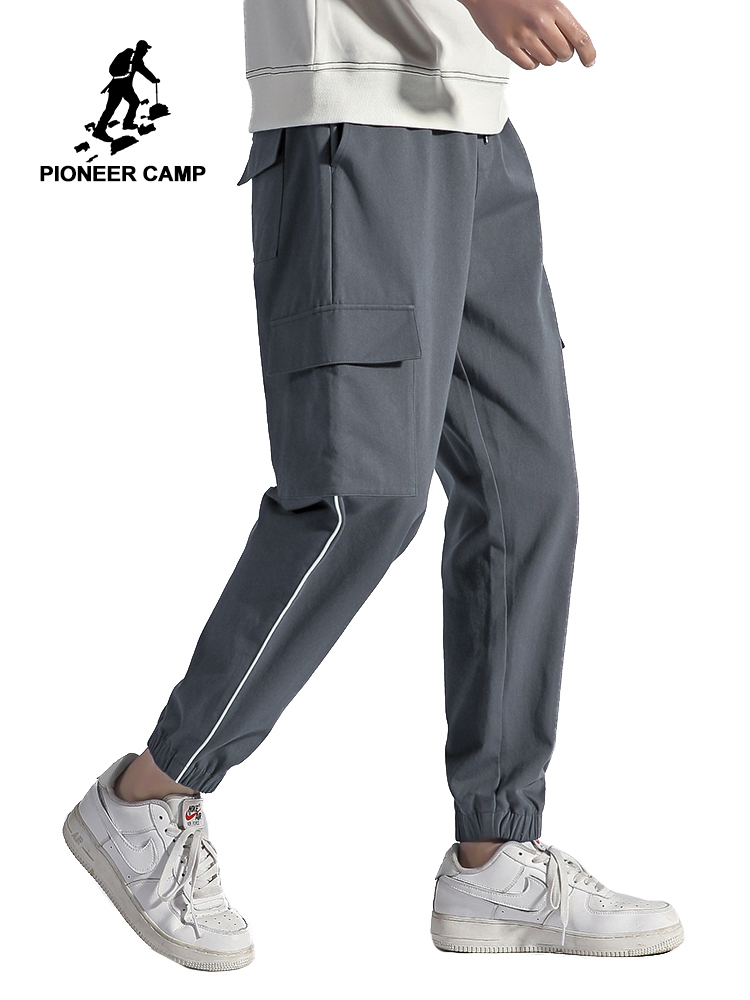 Pioneer Camp 2020 Spring Loose Causal Pants Mens Sportwear Fitness 100%Cotton Male Trousers Pants AXX0102012