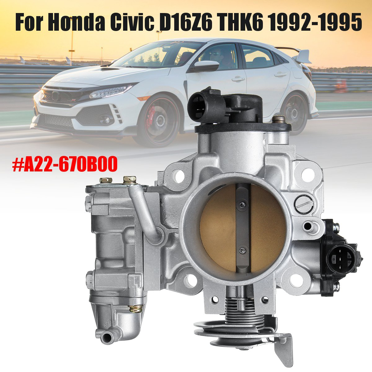 3 Pins Car Throttle Body Assembly Air Intake System For Honda for Civic D16Z6 THK6 1992-1995 #A22-670B00