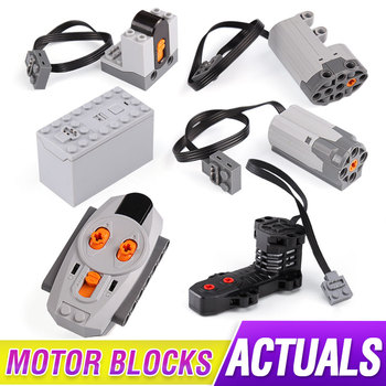 Power Functions Parts Technic Electric RC Motors Compatible With 5292 8883 8884 RC Motor For 42009 Set Building Blocks image