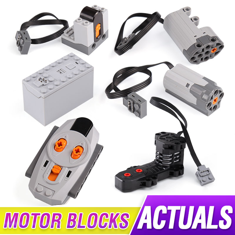 Power Functions Parts Technic Electric RC Motors Compatible With 5292 8883 8884 RC Motor For <font><b>42009</b></font> Set Building Blocks image