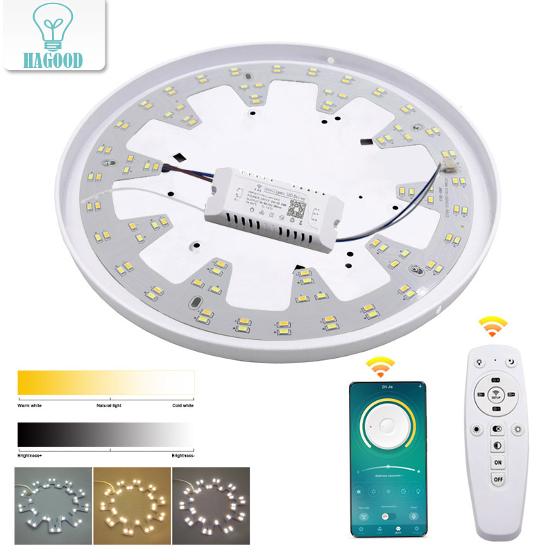 Smart 2.4G Ceiling Chandelier LED 5730 SMD Chip Replacement Light Source Surface For Remote Control For Living Room Kitchen