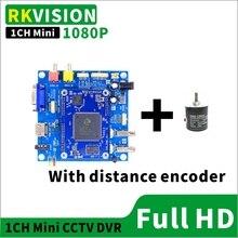 1CH Mini HD DVR kann display entfernung encoder CCTV unterirdische pipeline erkennung AHD 1080P recorder motherboard tastatur eingabe