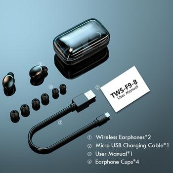 TWS Bluetooth Earphones 2200mAh Charging Box Wireless Headphone Fone 9D Stereo Sports Waterproof Earbuds Headset with Microphone 6