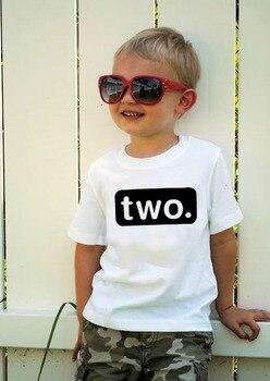 2. Camisa de cumpleaños para bebé niño de 2 años, atuendo para niños pequeños, camiseta de 2. °, ropa informal de fiesta, camisetas hermanos