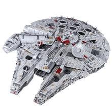 IN STOCK 05132 Millennium 8445pcs Compatible 75192 Star Plan Series Ultimate Falcon Collectors Model Building Bricks Toys