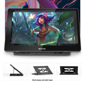 Image 3 - BOSTO BT 16HDT 15.6Inch H IPS LCD Graphics Tablet  Drawing Tablet Display 8192 Pressure Level Passive Technology with Stylu Pen