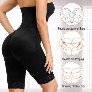 Image 3 - HEXIN Plus Size Women Butt Booty Lifter Shaper Bum Lift Buttocks Enhancer Boyshorts Briefs Control Pants Shapwear Underwear