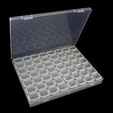 5d caixa de jóias strass transparente caixa 28/56 grade cristal bordado diamante pintura broca grânulo organizador recipiente armazenamento