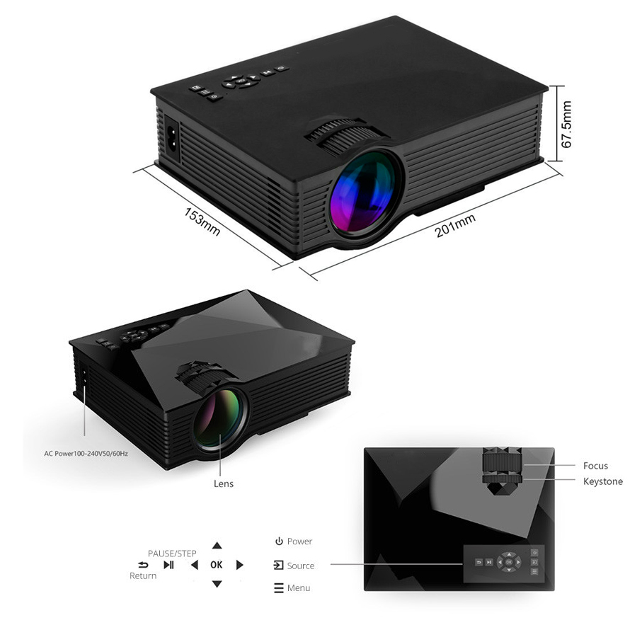 Image 5 - Salange LED Projector Home Theater Video  Beamer Cheap Proyector Support Full HD 1080P 3D HDMI Movie Game Proyector Wifi option-in LCD Projectors from Consumer Electronics