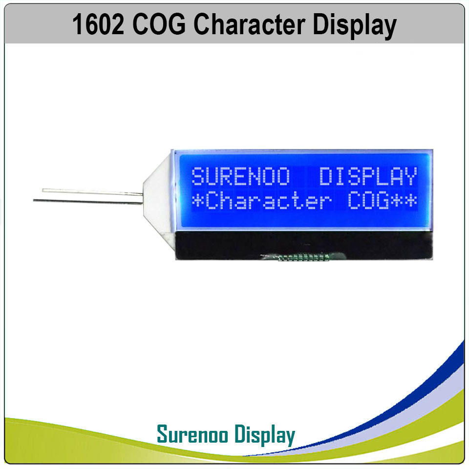 162 16X2 1602 COG ST7032I Serial SPI Character LCD Module Display Screen LCM Blue Negative With White LED Backlight