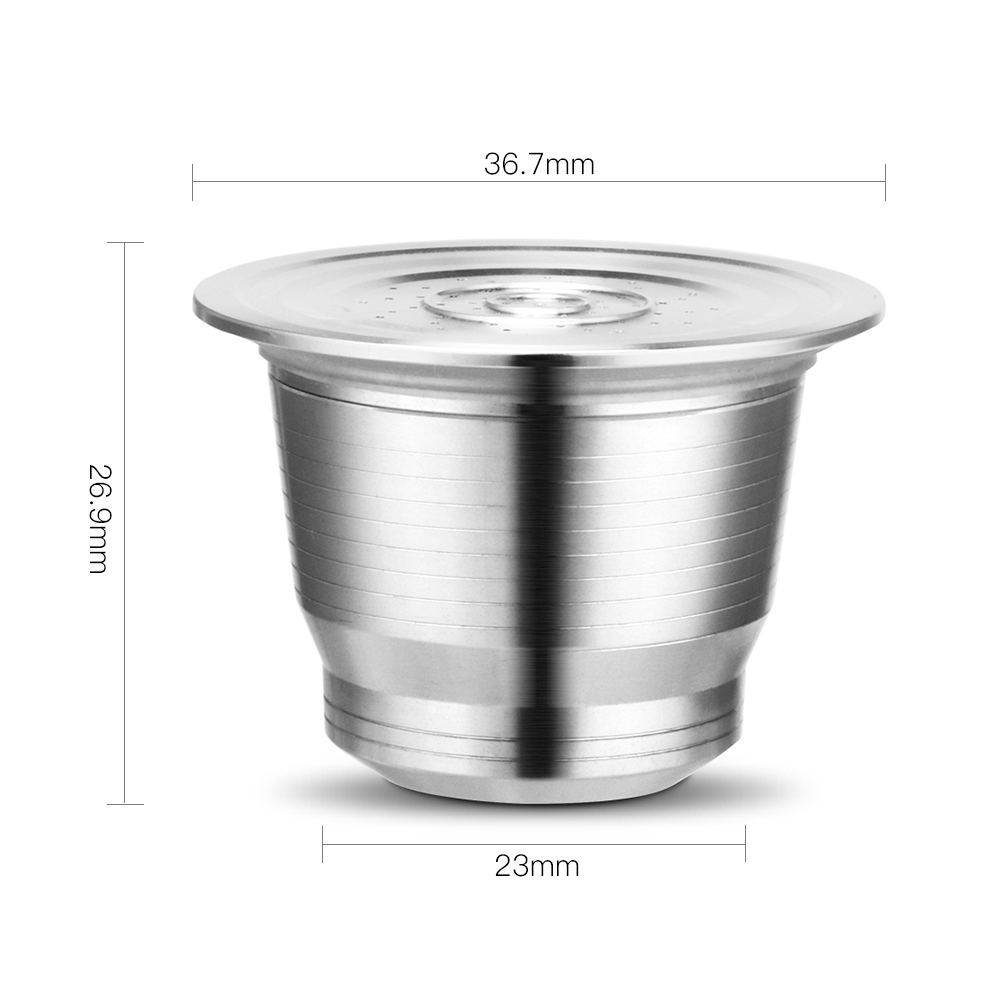 Nespresso Reusable Coffee Capsule Stainless Steel Refillable Filters Espresso Cup Fit for Inissia & Pixie Coffee Maker Machine 2