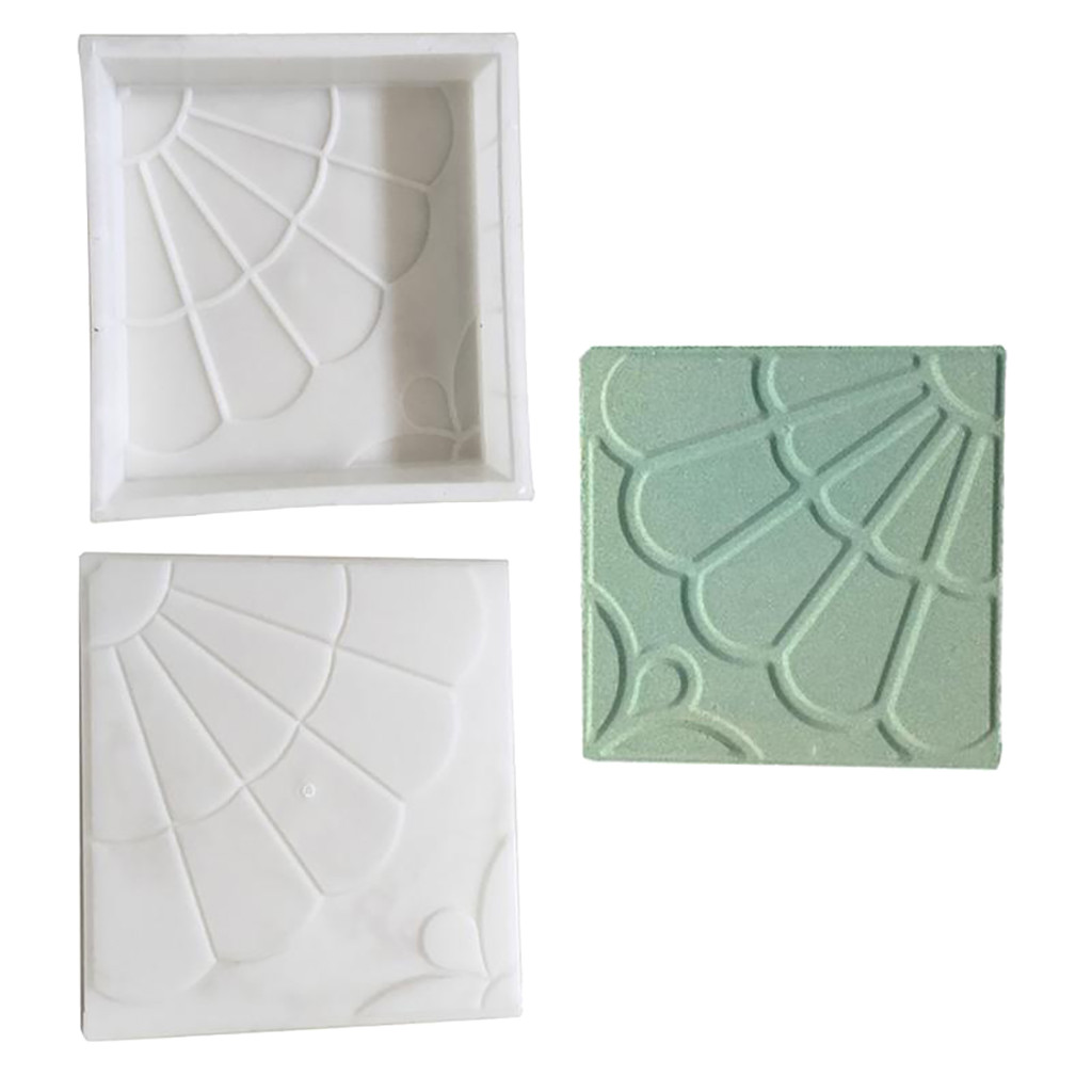 Plastic Making DIY Paving Mould Home Garden Floor Concrete Stepping Driveway Stone Path Mold Patio Maker Molds  25 X 25 X 4cm
